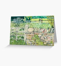 Cotswold Landscape Greeting Card
