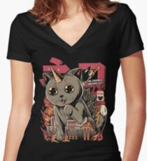 Catzilla Fitted V-Neck T-Shirt