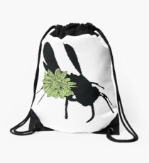 Flower Fly Drawstring Bag