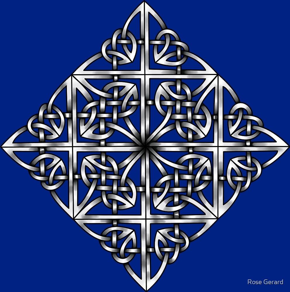 Blue & Silver Diamonds by Rose Gerard