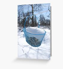 Basket of snow Greeting Card