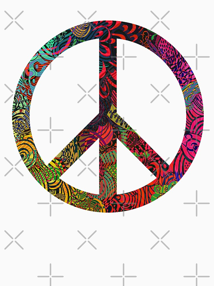 Flower Power Peace Symbol Long T Shirt By Ice Tees Redbubble