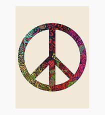 FLOWER POWER PEACE SYMBOL Photographic Print