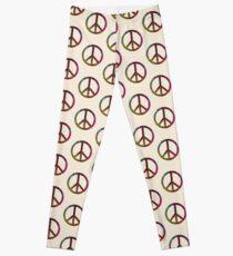 FLOWER POWER PEACE SYMBOL Leggings