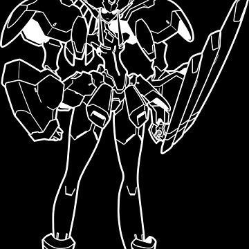 Strelizia Outline White by MossLoves