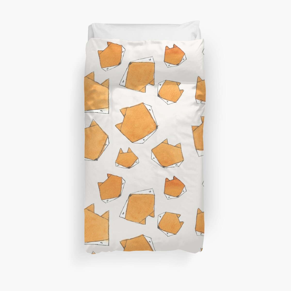 Quot Fox Face Quot Duvet Covers By Tanith Diggory Redbubble