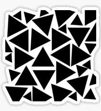Urban Black and White Geometric Triangle Pattern Sticker