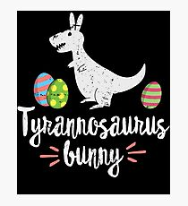 Funny Easter Shirts For Kids Tyrannosaurus Bunny Cute T-Rex Photographic Print