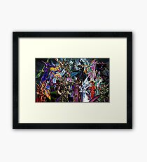 Yugioh Monsters Framed Print