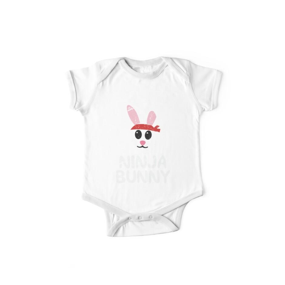 cff2ab62f Funny Easter Shirts For Boys & Kids Cute Ninja Bunny Egg
