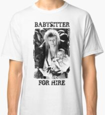 David Bowie - Jareth: Babysitter For Hire Classic T-Shirt