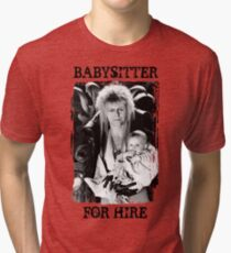 David Bowie - Jareth: Babysitter For Hire Tri-blend T-Shirt