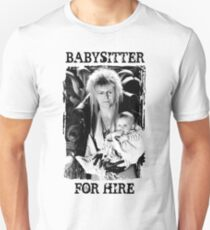 David Bowie - Jareth: Babysitter For Hire Unisex T-Shirt
