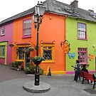 Bright coloured Kinsale Street - County Cork Ireland by mikequigley