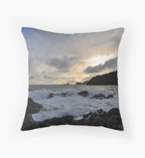 Early Evening by the Sea Throw Pillow