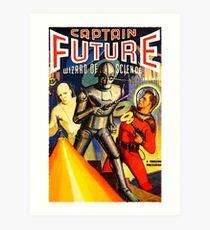 Retro Vintage CAPTAIN FUTURE NO. 1 PULP MAGAZINE ART Art Print
