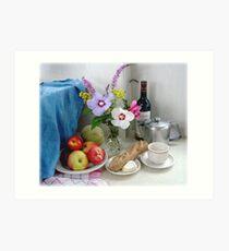 A loaf of bread, a jug of wine.....and tea? Art Print