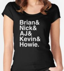 Backstreet Boys Names Helvetica Ampersand  Women's Fitted Scoop T-Shirt