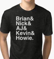 Backstreet Boys Names Helvetica Ampersand  Tri-blend T-Shirt