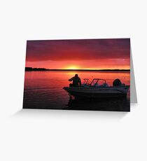 After The Day Is Done Greeting Card