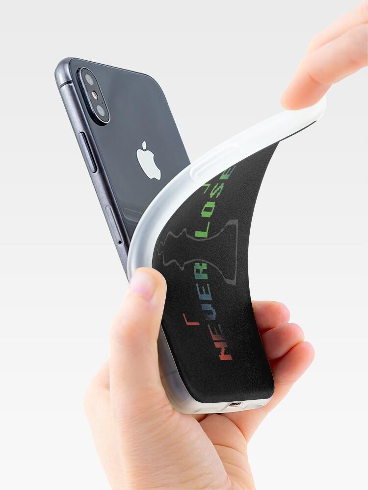 Vista alternativa de Vinilos y fundas para iPhone Nunca pierde en blanco