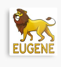 Eugene Lion Drawstring Bags Metal Print