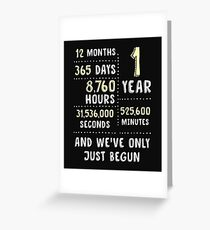 Paper Anniversary Collection Gifts, 1st Wedding Anniversary Shirt And Gadget Cases Greeting Card
