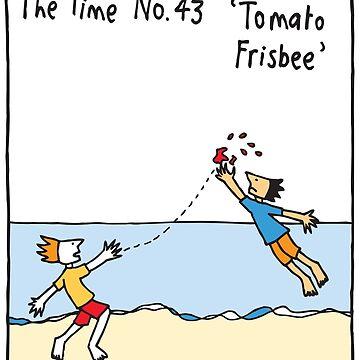 Tomato Frisbee by judyhoracek
