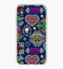 Gorgeous Victorian Jewelry Brooch Gemstone Collage iPhone Case