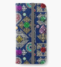 Gorgeous Victorian Jewelry Brooch Gemstone Collage iPhone Wallet/Case/Skin