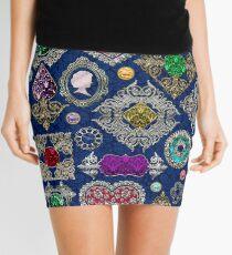 Gorgeous Victorian Jewelry Brooch Gemstone Collage Mini Skirt