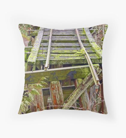 Tracks to Nowhere Throw Pillow