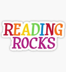 Reading Rocks Teacher, Student Sticker