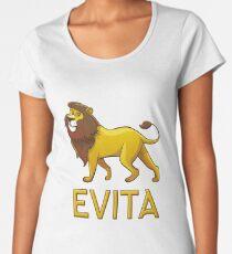 Evita Lion Drawstring Bags Women's Premium T-Shirt