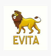 Evita Lion Drawstring Bags Art Print