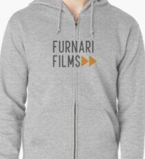 Grey Furnari Films Stacked Zipped Hoodie