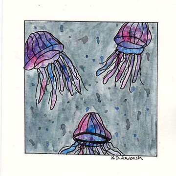 Watercolor Jellyfish by chaoticginger
