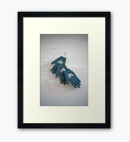 Shaker Hearts and Hands 2 Framed Print