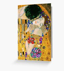 The Kiss by Gustav Klimt Greeting Card
