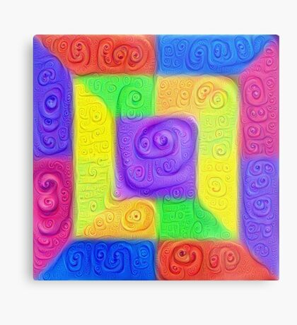 DeepDream Color Squares Visual Areas 5x5K v11 Metal Print