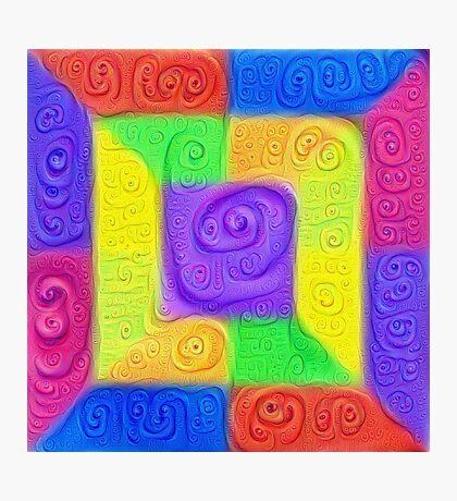 DeepDream Color Squares Visual Areas 5x5K v11 Photographic Print