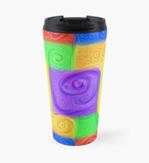 DeepDream Color Squares Visual Areas 5x5K v11 Travel Mug