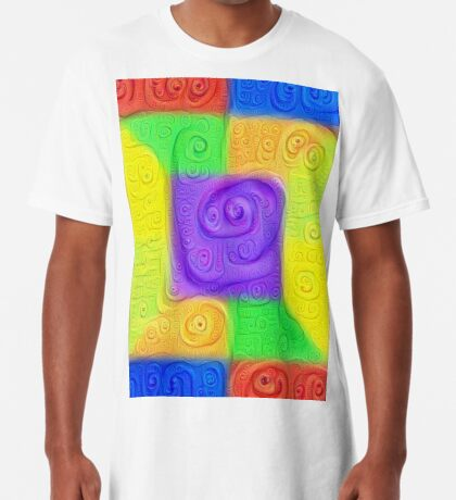 DeepDream Color Squares Visual Areas 5x5K v11 Long T-Shirt