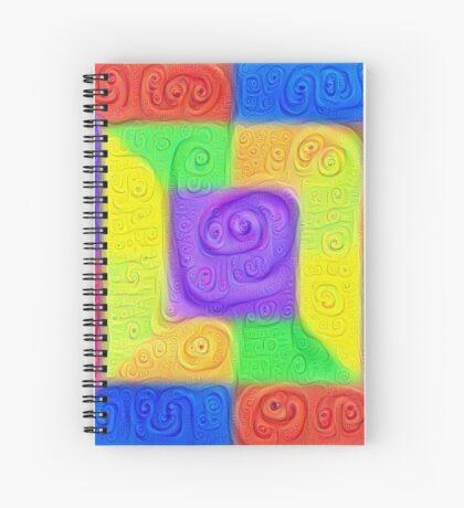 DeepDream Color Squares Visual Areas 5x5K v11 Spiral Notebook