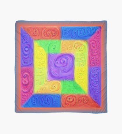 DeepDream Color Squares Visual Areas 5x5K v11 Scarf