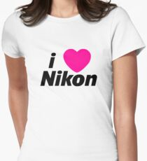 I Love Nikon -  But I own a canon! Womens Fitted T-Shirt