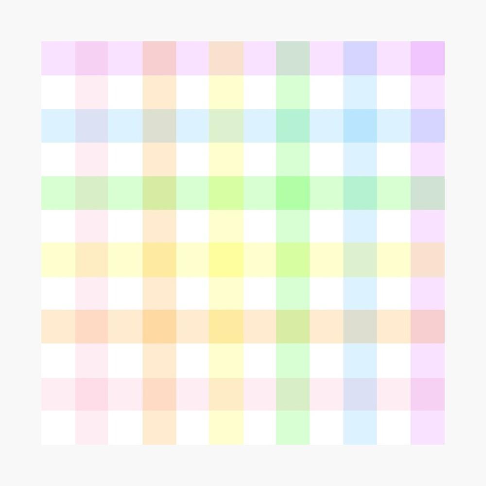Rainbow Gingham Photographic Print
