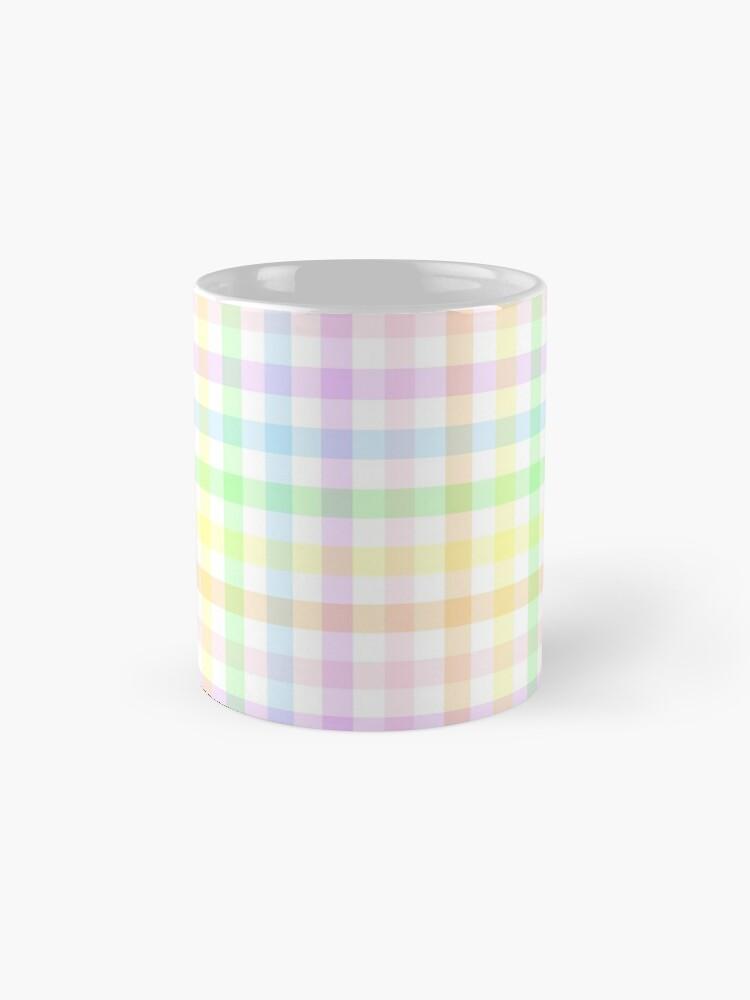 Alternate view of Rainbow Gingham Mug