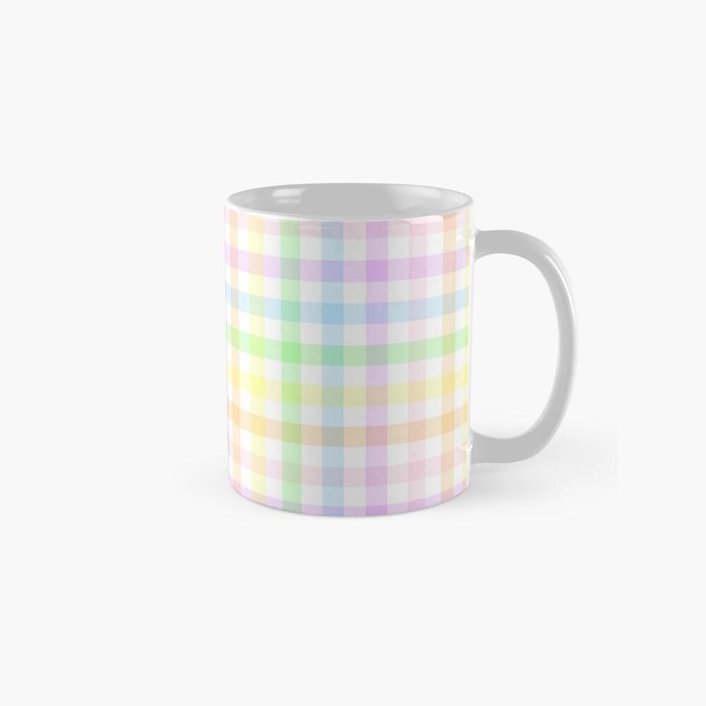 Rainbow Gingham Mug