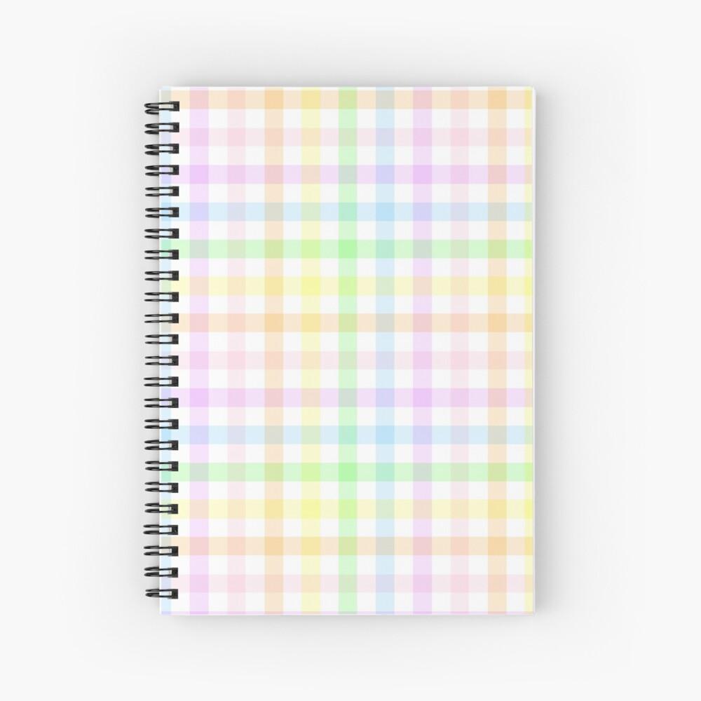 Rainbow Gingham Spiral Notebook